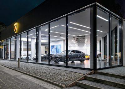 Umbau und Erweiterung Autohaus Lamborghini – Nürnberg