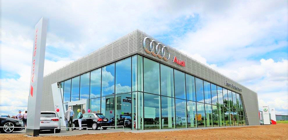 Neubau Autohaus für die Marke Audi und SEAT/SKODA – Burgoberbach
